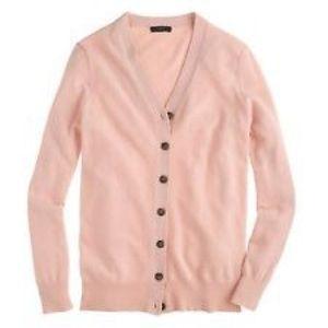 Sweaters - J. Crew V Neck Cardigan Cashmere Sweater Pink S